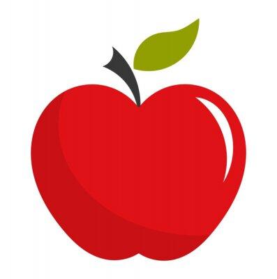Vinilo Ilustración roja de la manzana