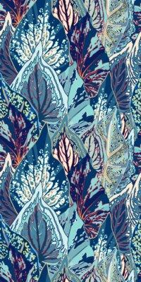 Vinilo Ilustración transparente de Blue Leaf Vector
