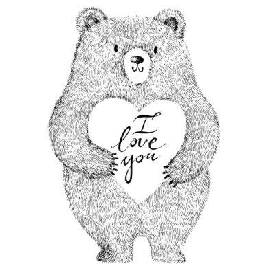 Vinilo Ilustración vectorial adorable adorable oso