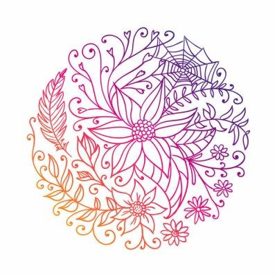 Vinilo Ilustración vectorial de un círculo decorativo abstracto