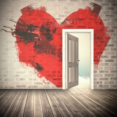 Vinilo Imagen compuesta del corazón