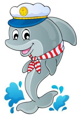 Vinilo Imagen con delfines tema 1