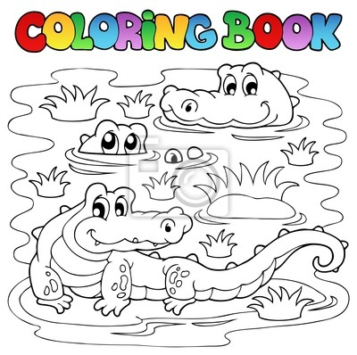 Imagen libro para colorear cocodrilo 1 vinilos para portátiles ...