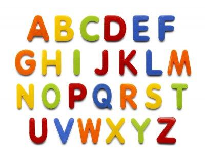 Vinilo Imán del alfabeto