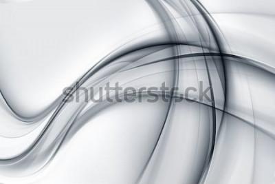 Vinilo Impresionante brillante blanco gris papel tapiz abstracto