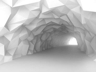 Vinilo Interior del túnel con el relevo caótico poligonal de las paredes
