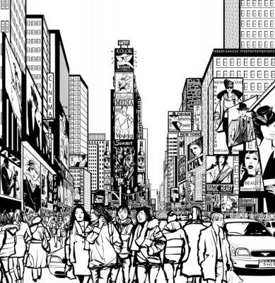 Vinilo Interpretación de Times Square en Nueva York