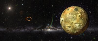 Vinilo Io en el espacio exterior.