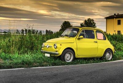 Vinilo Italiano de coches de época Pequeño Fiat Abarth