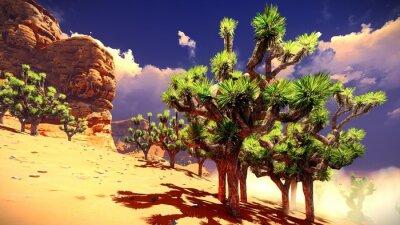 Vinilo Joshua árboles en el desierto