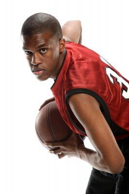 Vinilo Joven, negro, baloncesto, jugador