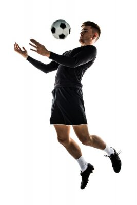 Vinilo Joven rubia jugando al fútbol