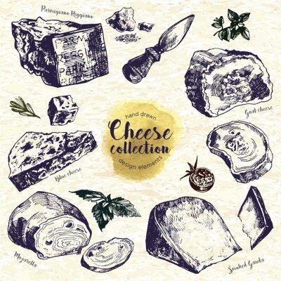 Vinilo Juego de queso a mano