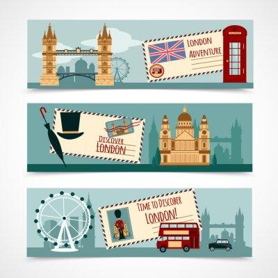 Vinilo Juego turístico de la bandera de Londres