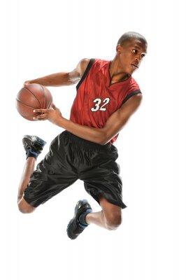 Vinilo Jugador de baloncesto afroamericano