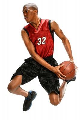 Vinilo Jugador de Baloncesto Dunking Bola