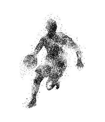 Vinilo Jugador de baloncesto, silueta