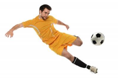 Vinilo Jugador de fútbol en acción