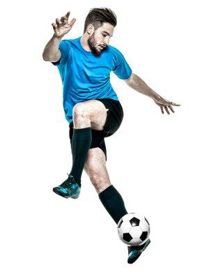 Vinilo Jugador de fútbol Hombre aislado