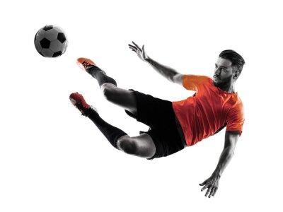 Vinilo Jugador de fútbol Hombre aislado silueta