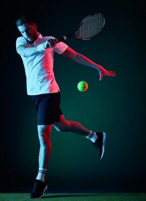 Vinilo Jugador de tenis hombre aislado