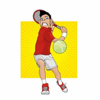 Vinilo Jugador de tenis loco