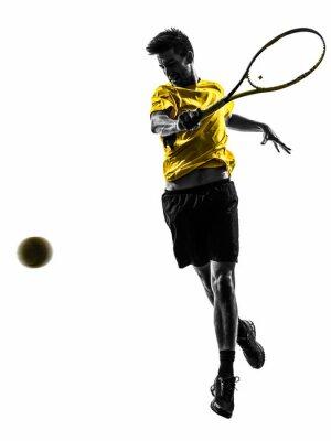 Vinilo jugador de tenis silueta del hombre