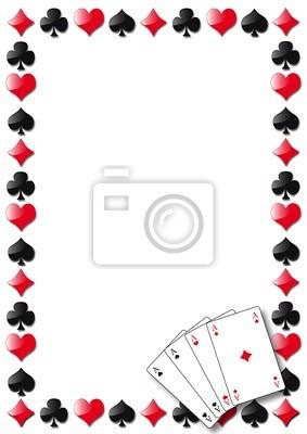 Jugando a las cartas como fondo