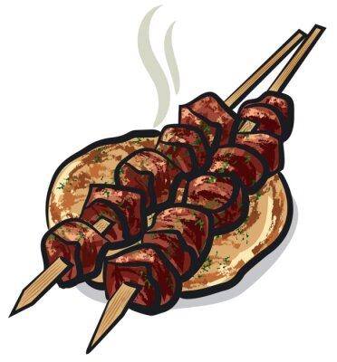Vinilo Kebab de carne
