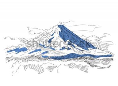 Vinilo Klyuchevskaya Sopka. Volcán. Kamchatka Rusia