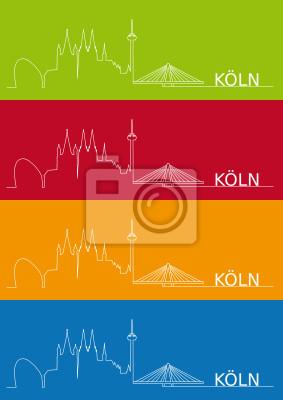 Vinilo Köln Silueta abstrakt
