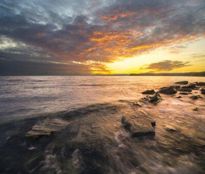 Vinilo Krajobraz morski, zachód słońca