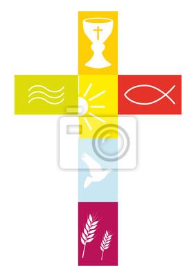 Vinilo Kreuz farbenfroh