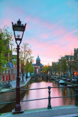 Vinilo La basílica de San Nicolás en Amsterdam