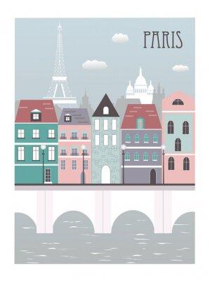 Vinilo La ciudad de París.