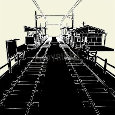 Vinilo La estación de tren antiguo