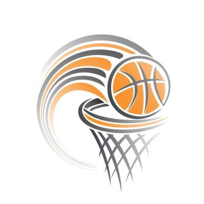 Vinilo La imagen de una pelota de baloncesto