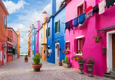 Vinilo La isla de Burano, Venecia, Italia