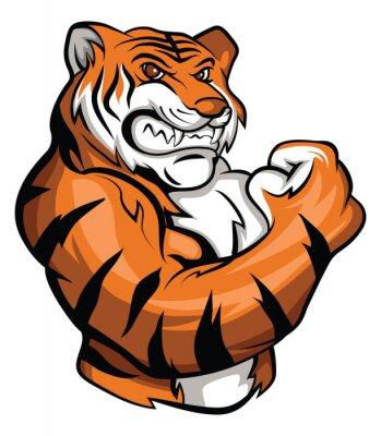 Vinilo La mascota del tigre