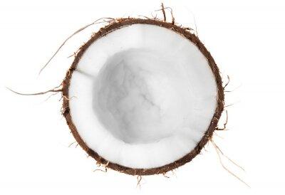 Vinilo La mitad de vista superior de coco