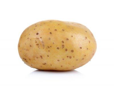 Vinilo la patata en el fondo blanco