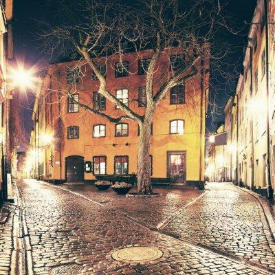 Vinilo La pequeña plaza en Gamla Stan, Estocolmo.