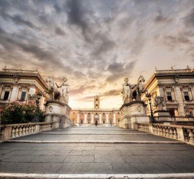 Vinilo La scalinata del Campidoglio, Roma