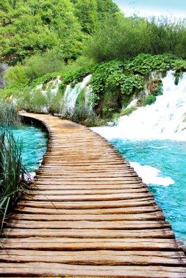 Vinilo Lago de Plitvice viaje mágico, Croacia