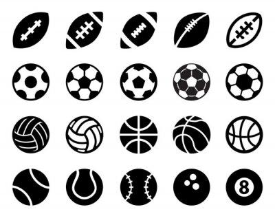 Vinilo Las bolas del deporte