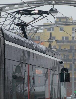 Vinilo Las descargas en el tranvía en el carro con hielo