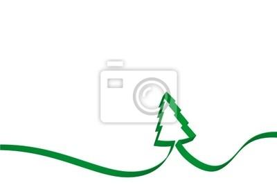 Vinilo Lazo del árbol de Navidad