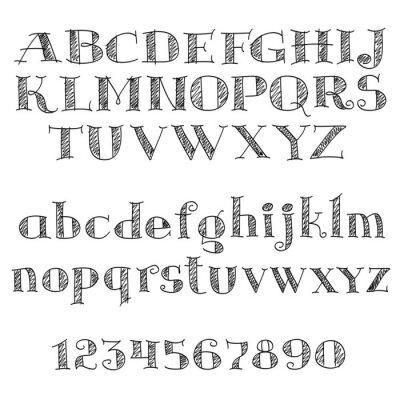 Vinilo Letras alfabéticas con letras cruzadas