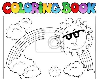 Libro para colorear con el sol y el arco iris vinilos para ...