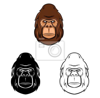 Libro para colorear dibujos animados gorila vinilos para portátiles ...